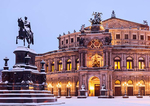 Dresden Semperoper im Winter